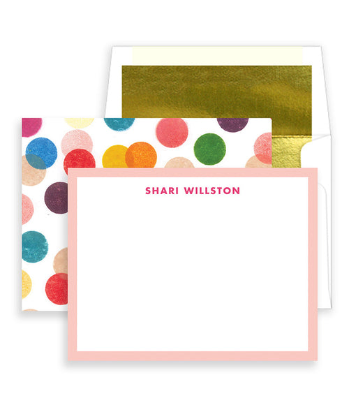 Rainbow Dots Personalized Stationery