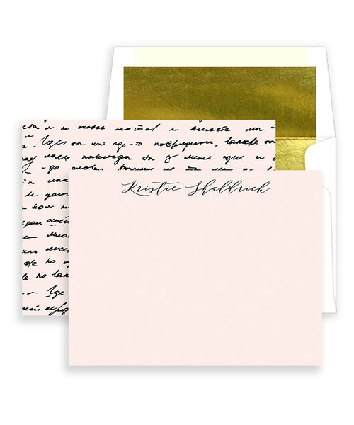 Antique Handwriting Personalized Stationery