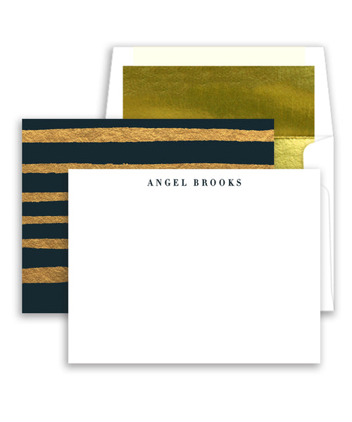 Classic Black & Gold Personalized Stationery