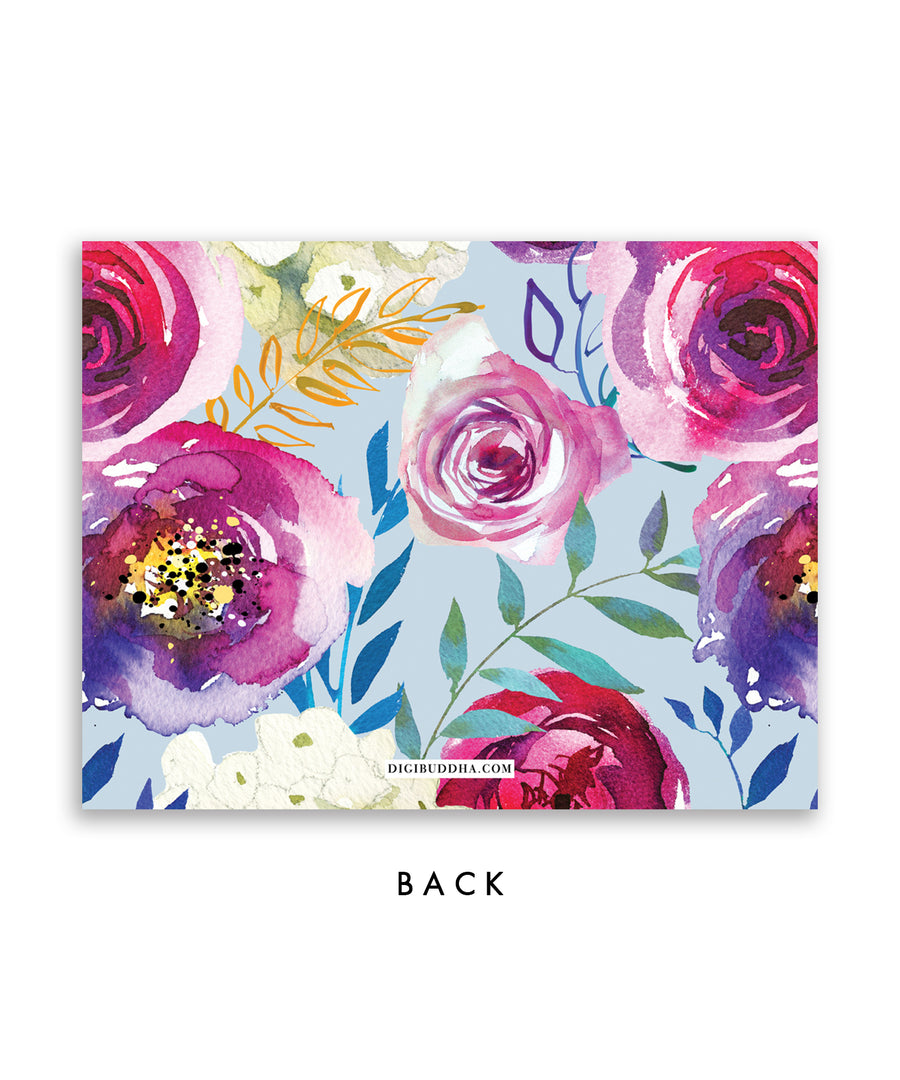 Colorful Blooms Personalized Stationery Coll. 26