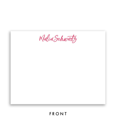 Bold Watercolor Personalized Stationery