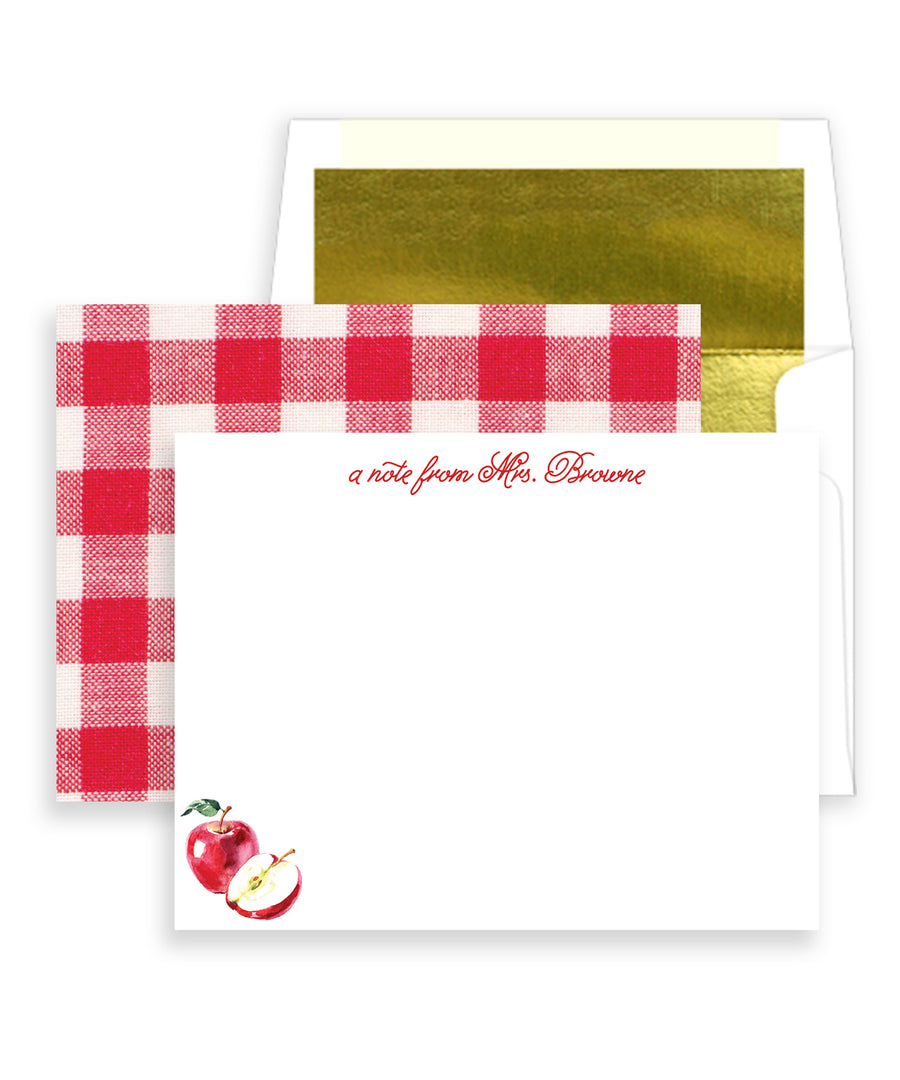 Apple for the Teacher Personalized Stationery