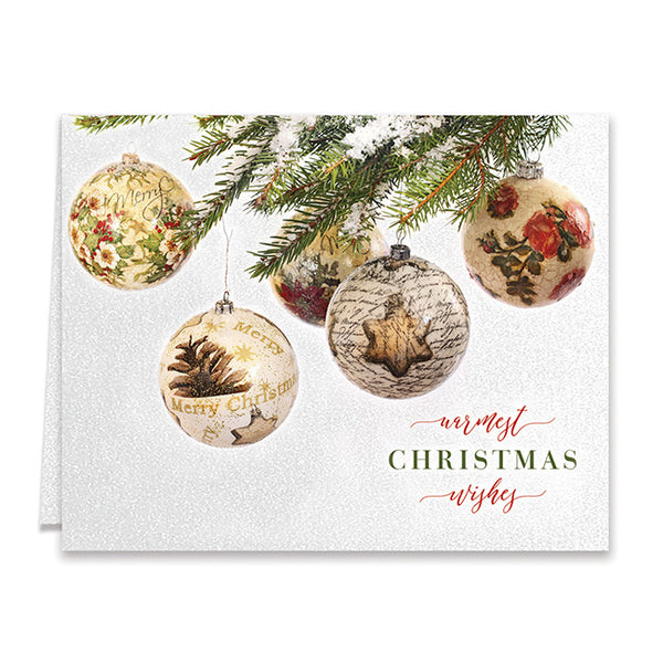 Warmest Christmas Wishes Boxed Holiday Cards | Sarath