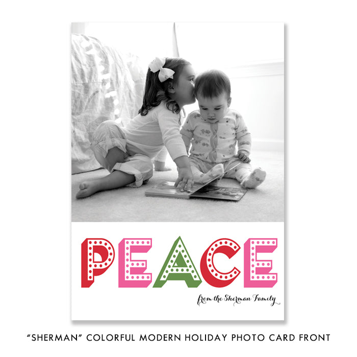 Colorful Modern Photo Holiday Card