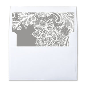 """Siri"" Lace + Gray Envelope Liners"