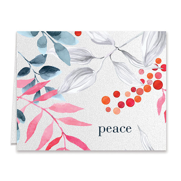 Elegant Floral Peace Boxed Holiday Cards | Smythe