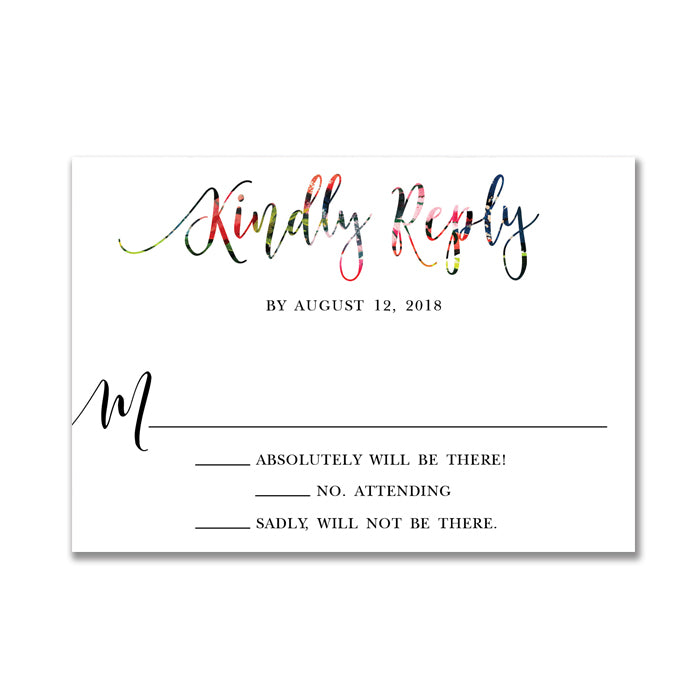 Watercolor Wedding RSVP Card
