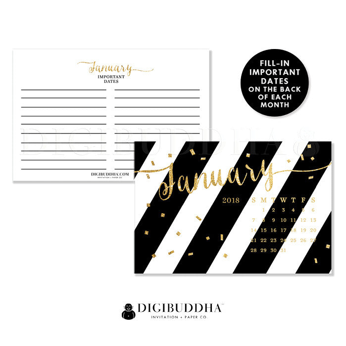 2018 Desk Calendar by Digibuddha | Stella Black
