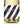"Load image into Gallery viewer, ""Stella"" Navy Stripe + Gold Engagement Champagne Labels"