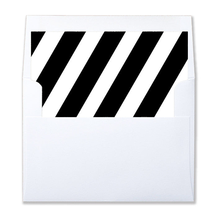 """Stella"" Black + White Stripe Envelope Liners"
