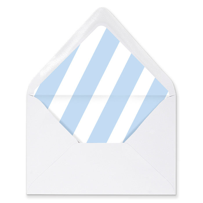 """Stella"" Blue Stripe Envelope Liners"