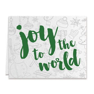 Joy To The World Green Boxed Holiday Cards | Sweetin