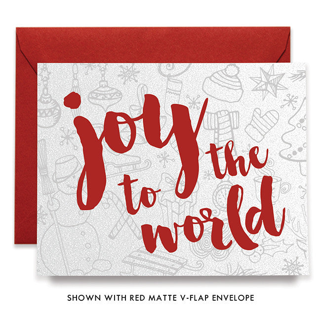 Joy To The World Red Boxed Holiday Cards | Sweetin