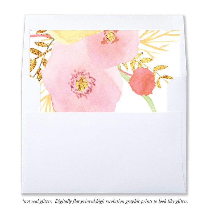 """Tali"" Pink + Gold Envelope Liners"