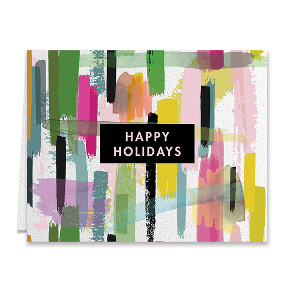 Colorful Paint Strokes Boxed Holiday Cards | Thicke