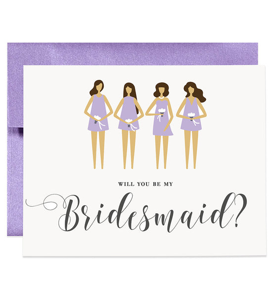 Will You Be My Bridesmaid? Lilac Purple | Tori