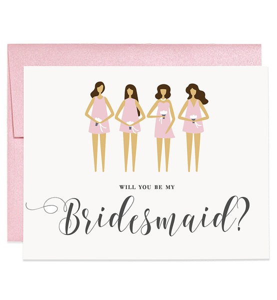 Will You Be My Bridesmaid? Rose Pink | Tori