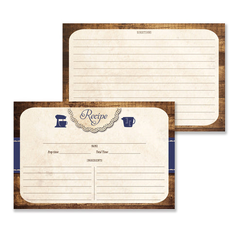 Rustic Wood Recipe Cards |  Tracey Navy