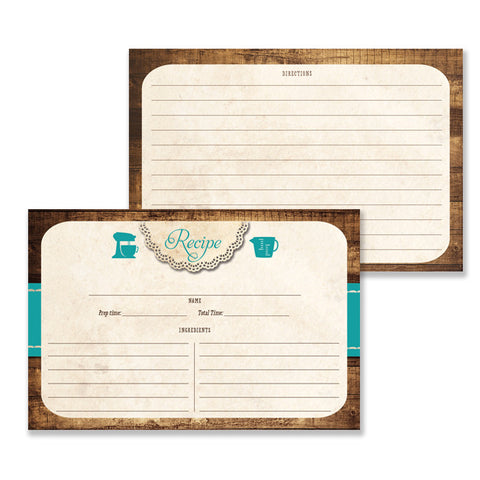 Rustic Wood Recipe Cards |  Tracey Teal