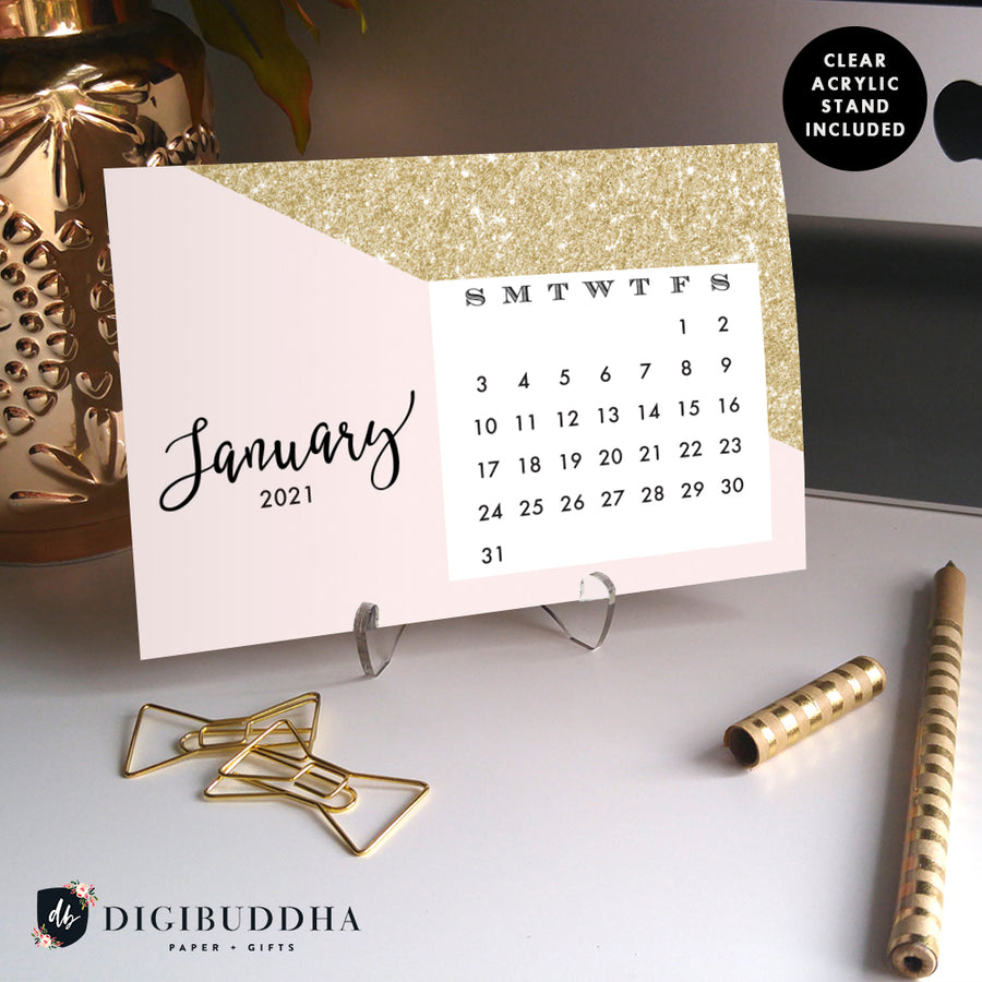 2021 Desk Calendar by Digibuddha | Evie Pink