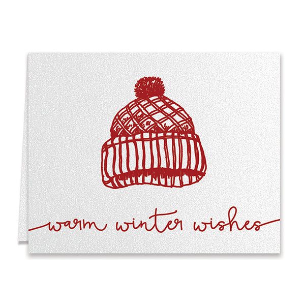 Winter Hat Holiday Greeting Card