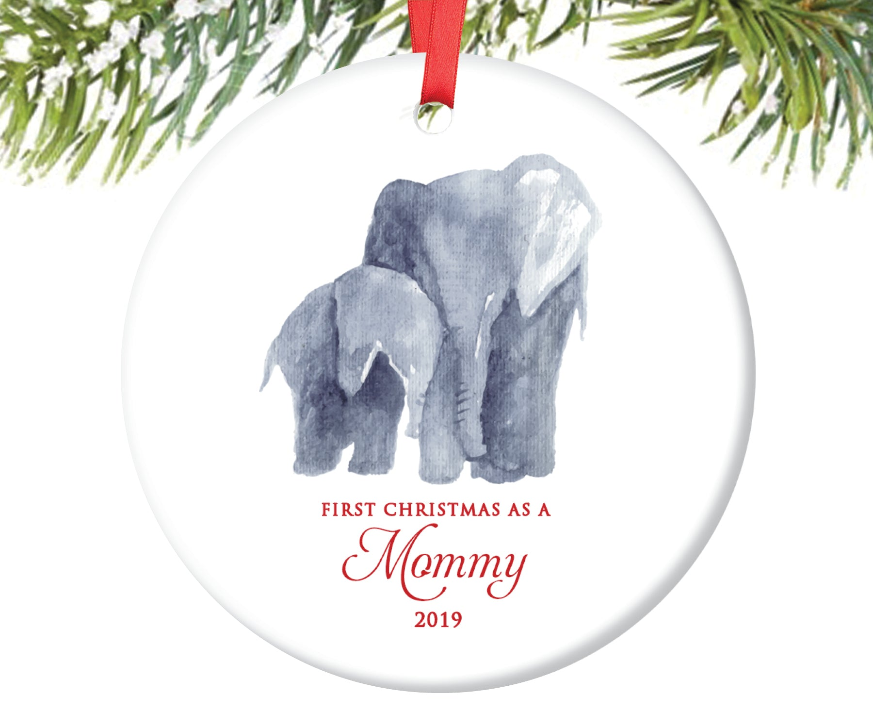 First Christmas as Mommy Christmas Ornament