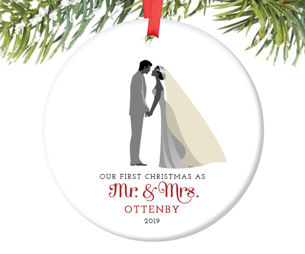 Mr and Mrs First Christmas Ornament, Personalized | 7