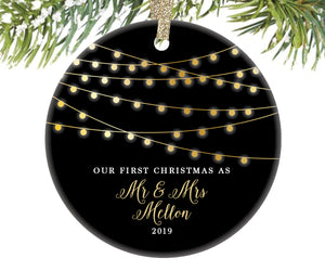 Our First Christmas as Mr and Mrs Ornament, Personalized | 8
