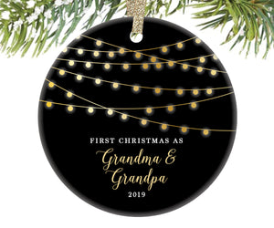 First Christmas as Grandma and Grandpa Ornament | 9