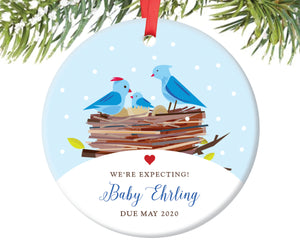Baby Announcement Christmas Ornament, Personalized | 10