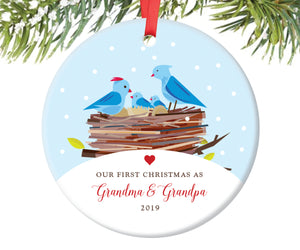 Our First Christmas as Grandma and Grandpa Ornament | 11