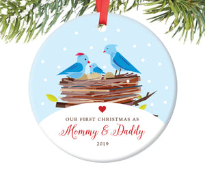 Our First Christmas as Mommy and Daddy Christmas Ornament | 12