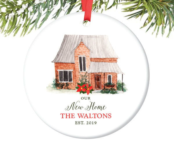 New Home Christmas Ornament, Personalized | 19