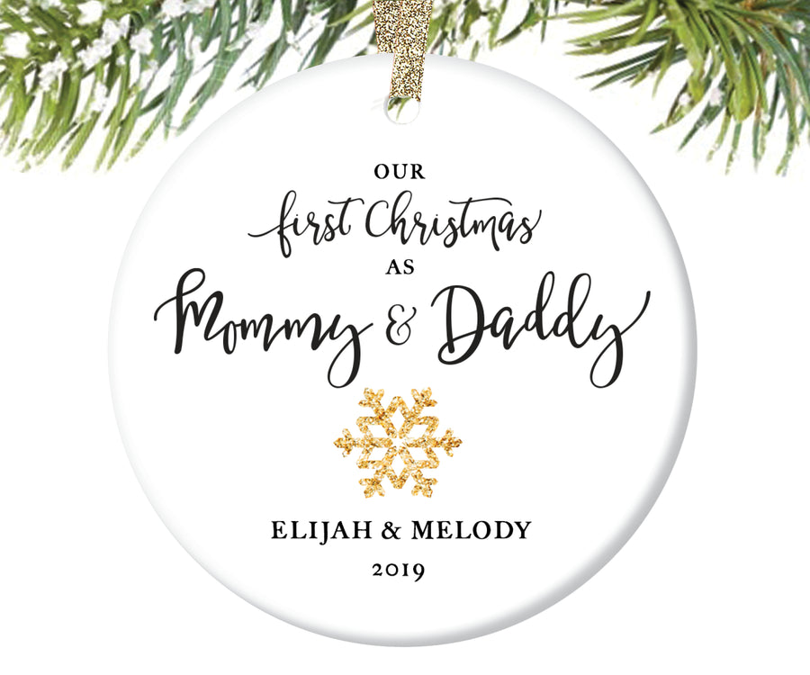 First Christmas as Mommy and Daddy Christmas Ornament, Personalized | 21