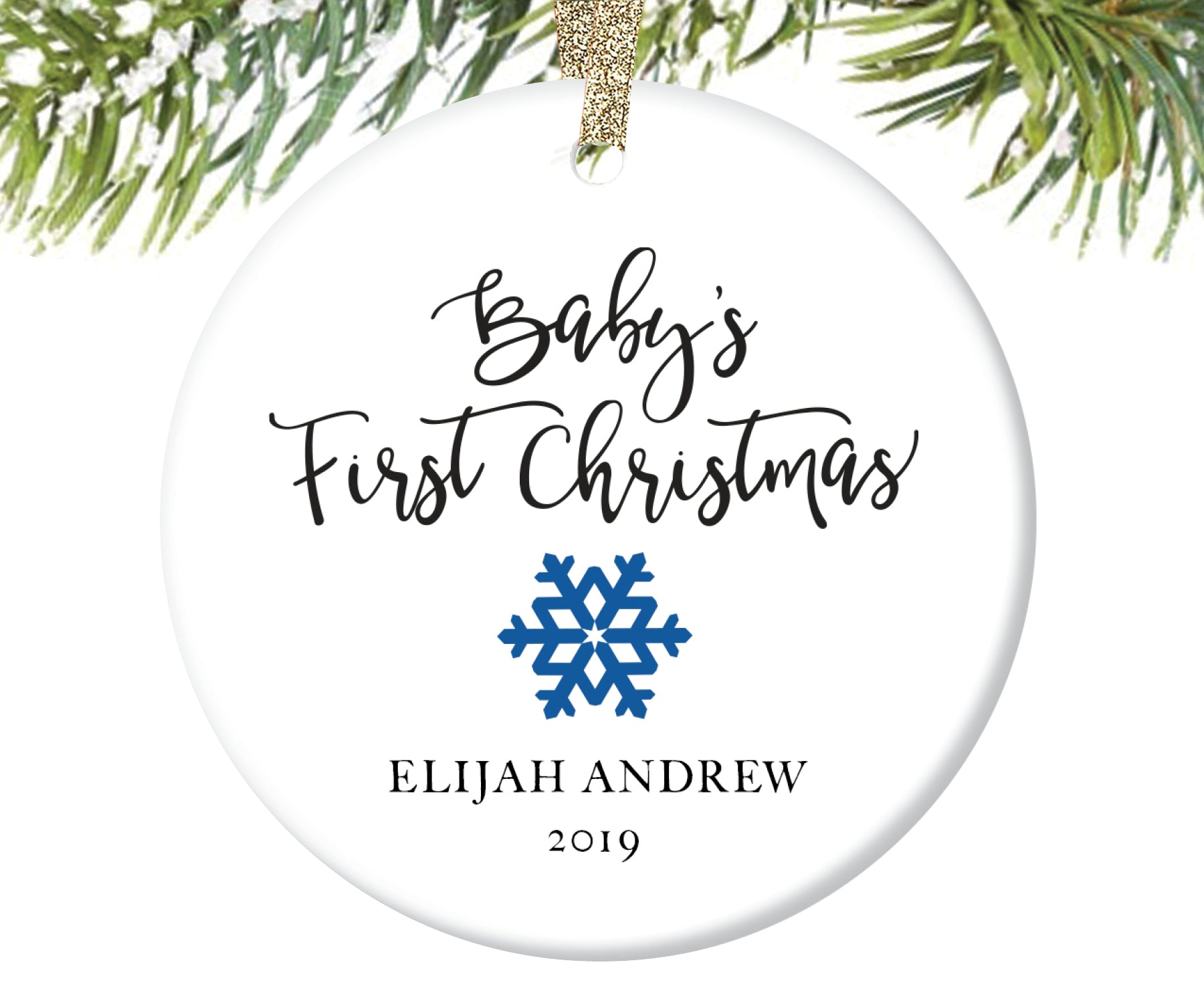 Baby's First Christmas Ornament, Personalized | 28