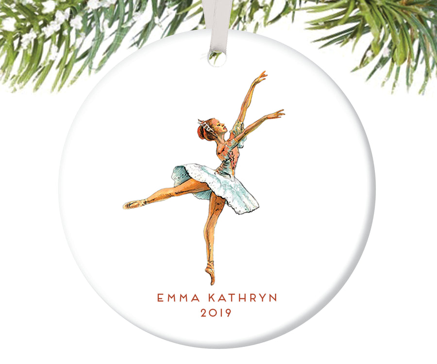 Nutcracker Ballerina Christmas Ornament, Personalized | 29