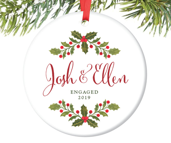 Engagement Christmas Ornament, Personalized | 36