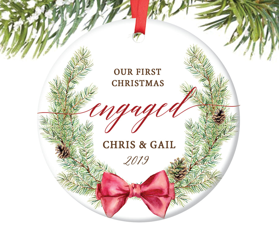 Our First Christmas Engaged Ornament, Personalized | 38
