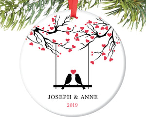 Love Birds Christmas Ornament, Personalized | 39
