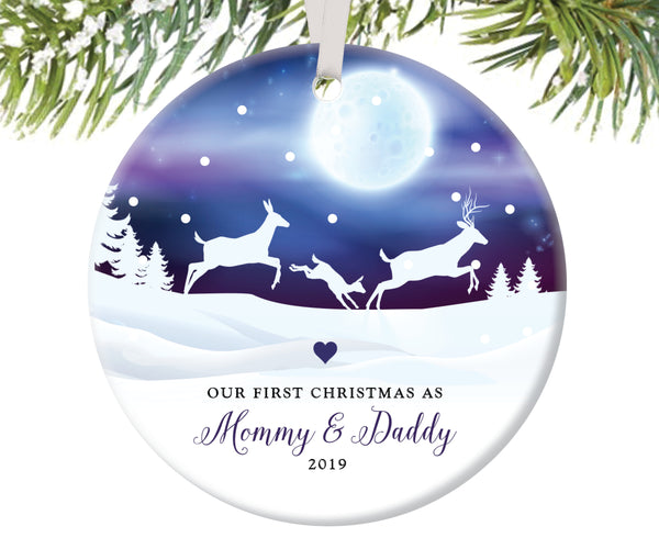 First Christmas as Mommy and Daddy Christmas Ornament | 40