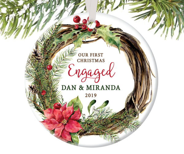 First Christmas Engaged Ornament