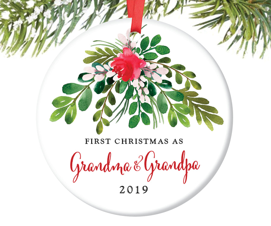 First Christmas as Grandma and Grandpa Ornament | 45