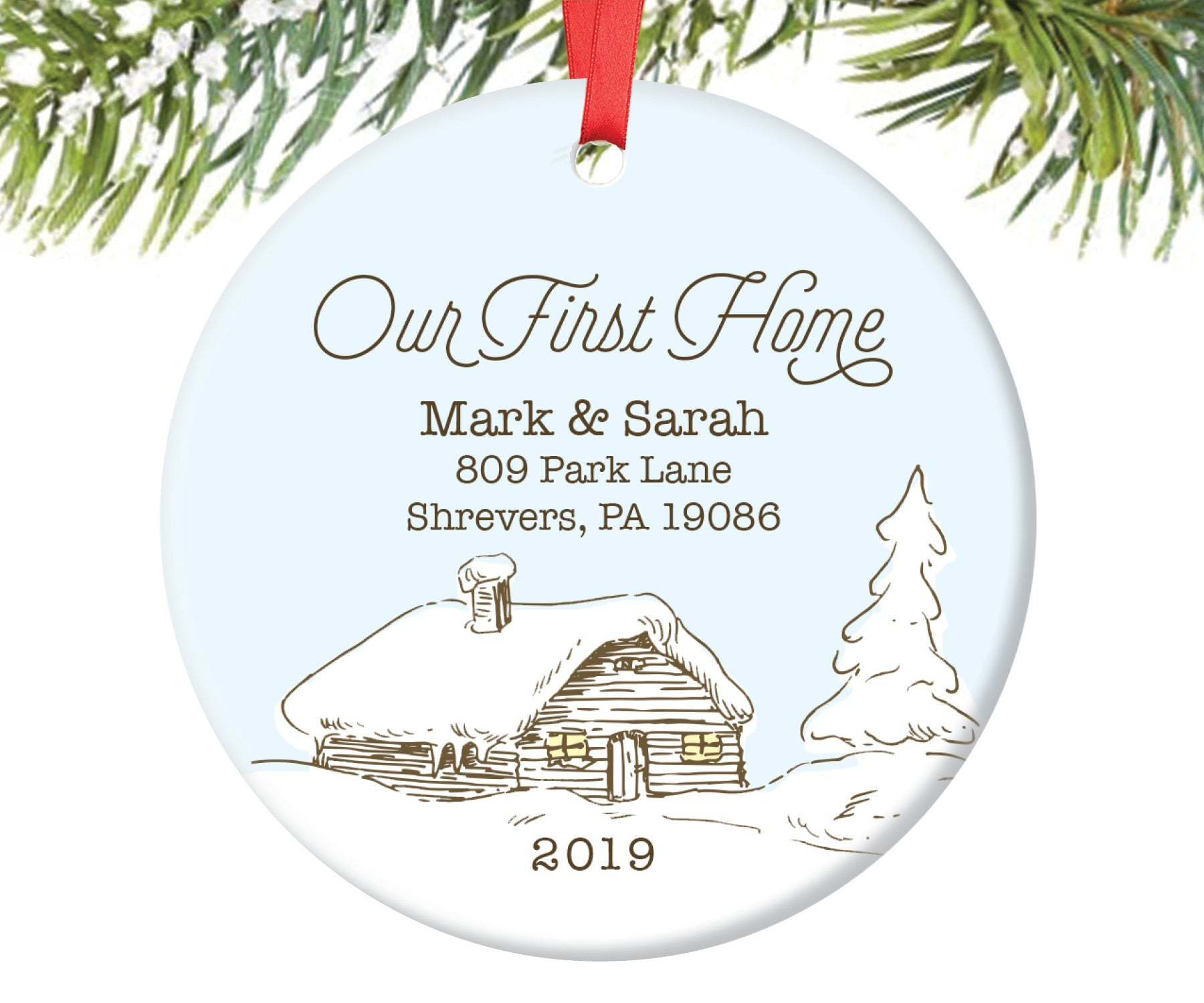 Our First Home Christmas Ornament.Our First Home Christmas Ornament Personalized 49