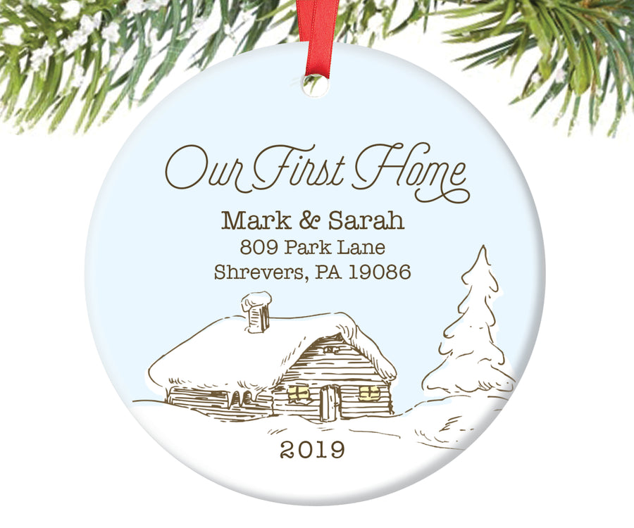 Our First Home Christmas Ornament, Personalized | 49