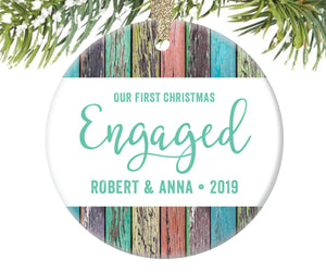 First Christmas Engaged Ornament, Personalized | 51