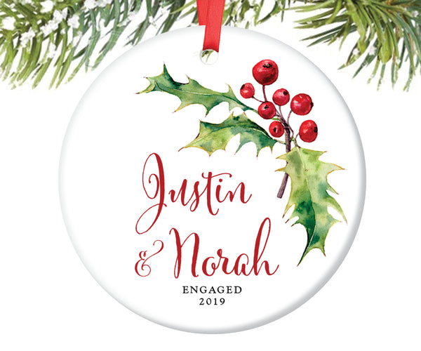 Engagement Christmas Ornament, Personalized | 52