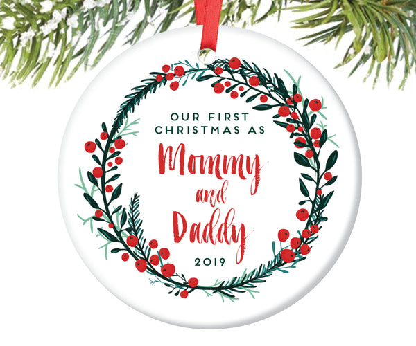 First Christmas as Mommy and Daddy Christmas Ornament | 54