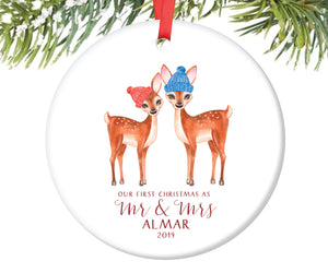 First Christmas as Mr and Mrs Ornament, Personalized | 55