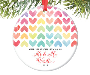 First Christmas as Mr and Mrs Ornament, Personalized | 60