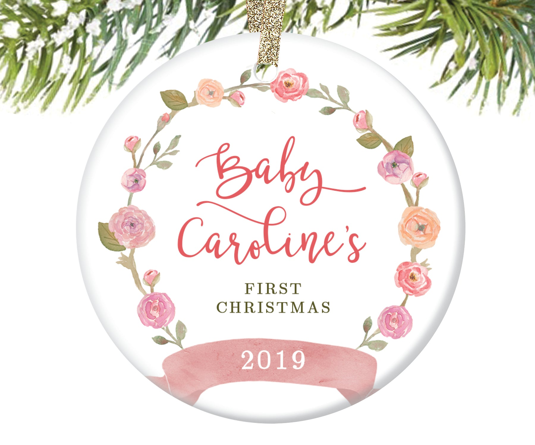Baby's First Christmas Ornament, Personalized | 61